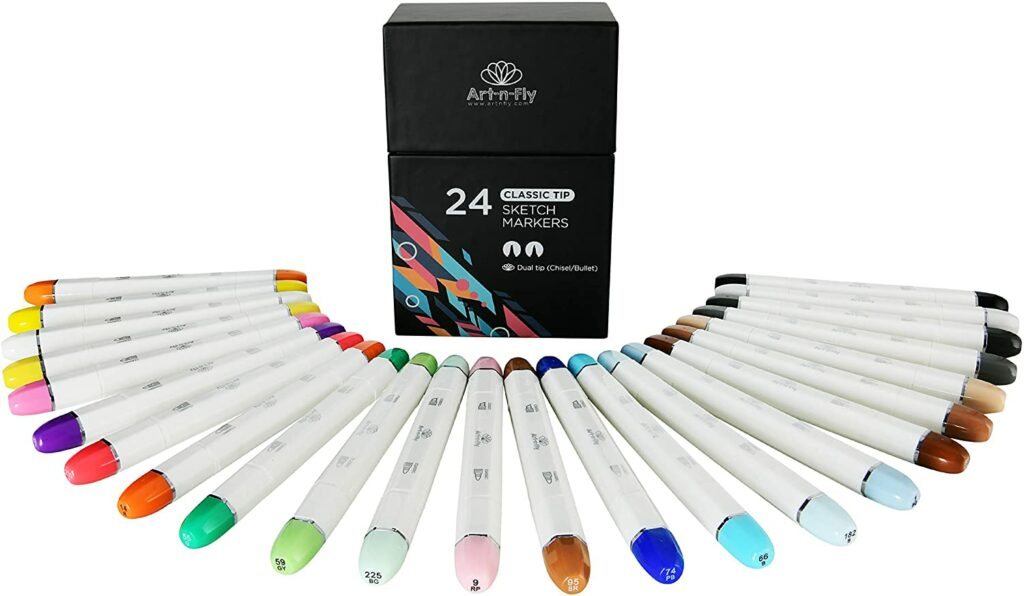 24 Professional Classic Nib Markers