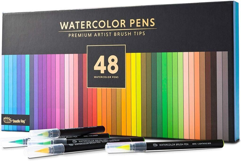 8 Premium Watercolor Brush Pens,